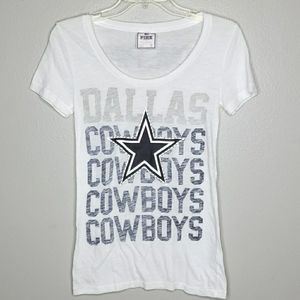 VS PINK Dallas Cowboys tee shirt S white